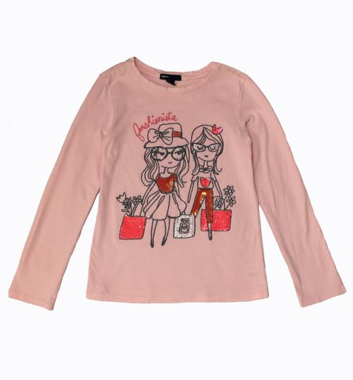 Sequin & Rhinestone Graphic Tee Shirt
