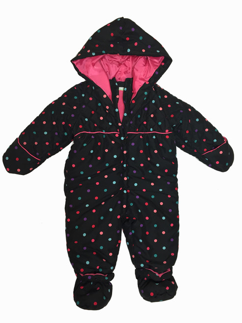 Polka Dots Baby Girls Snowsuit