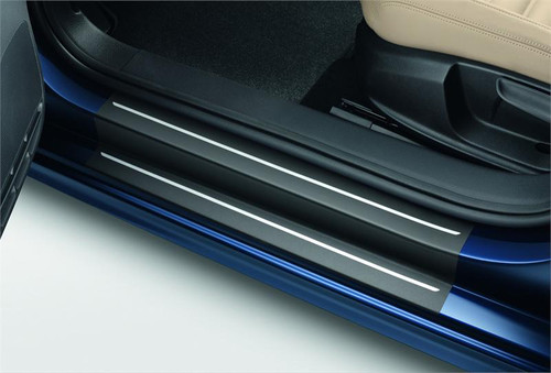 VW Jetta Black Door Sill Film