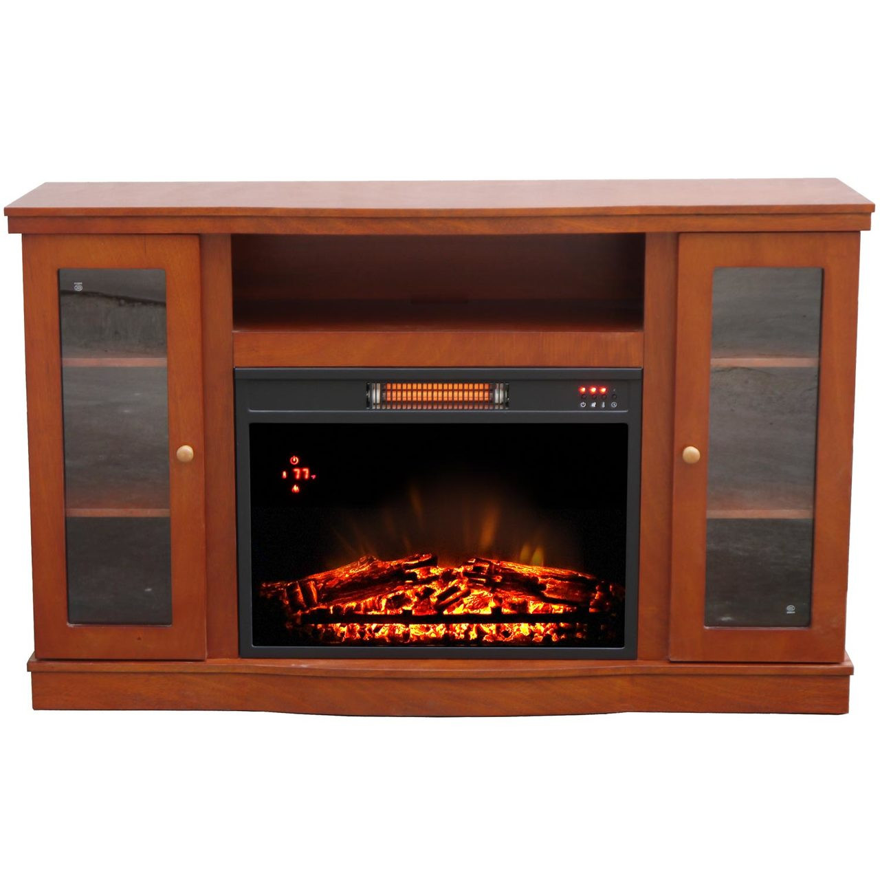 electric media fireplaces n with fireplace black the home venting in stands heating tv b cooling w depot center