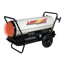 Dura Heat DFA400T 400,000 BTU Kero Forced Air Heater with Thermostat, Wheels and Handles Included