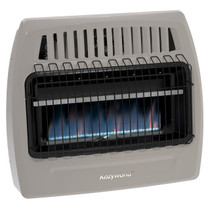 Kozy World KWN375 30,000 Btu Blue Flame Natural Gas (NG)Vent Free Wall Heater