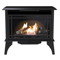 Kozy World GSD2845 The Monterey Dual Fuel Vent-Free 30000 BTU Gas Stove