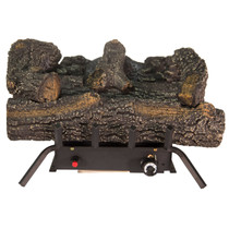 Kozy World GLD1855T Propane (LP) or Natural (NG) Gas Vent Free 18 in. Black Forest Log Set, 30000 BTUs