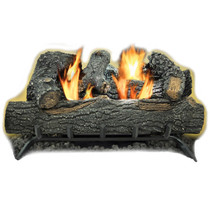 Kozy World GLD2455T Propane (LP) or Natural  Gas(NG) Vent Free 24 in. Black Forest Log Set 30,000 BTUs