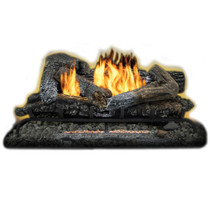 Kozy World GLD2465R Propane (LP) or Natural (NG) Gas 24 in. Highland Ember Log Set w Remote, 33000 BTUs