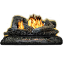 Kozy World GLD3070R Propane (LP) or Natural (NG) Gas 30 in. Highland Ember Log Set w Remote, 33000 BTUs