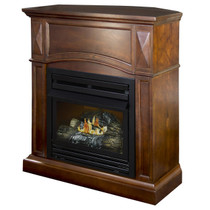 Kozy World GFD2042 The Belmont Propane (LP) or Natural (NG) Gas Vent Free Fireplace, 20000 BTUs