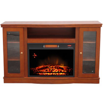 Comfort Glow QEF7530RKD Abington Media Center with Infrared Quartz Electric Fireplace