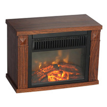 Comfort Glow EMF160 Mini Hearth Electric Fireplace, Wood Grain 4100 BTUs