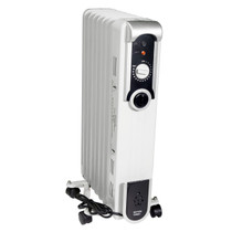 Comfort Glow EOF260 Sleek Portable Oil Filled Radiator Heater, White