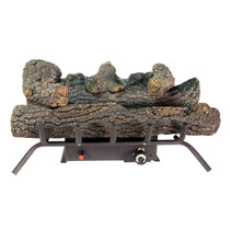 Comfort Glow GLD2456T Propane (LP) or Natural (NG) Gas Vent Free 24 in. Black Forest Log Set, 30000 BTUs
