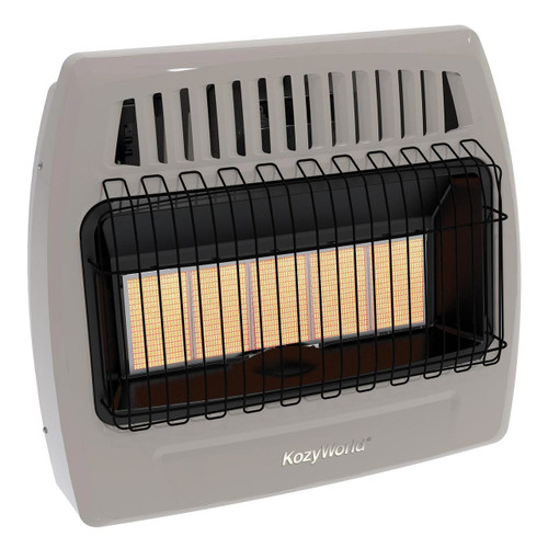 Kozy World KWD525 30000 Btu 5 Plaque Dual Fuel Infrared Vent Free Wall Heater
