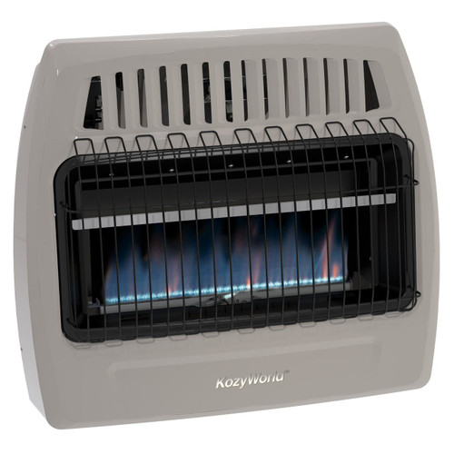 Kozy World KWP376 30000 Btu Blue Flame Propane Vent Free Wall Heater