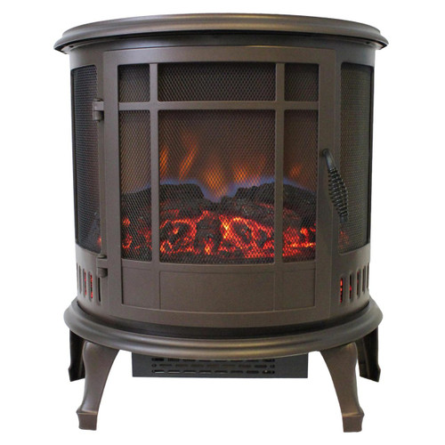 Comfort Glow ES4835 Claremont  Bronze Electric Stove with 180 Degree Viewing