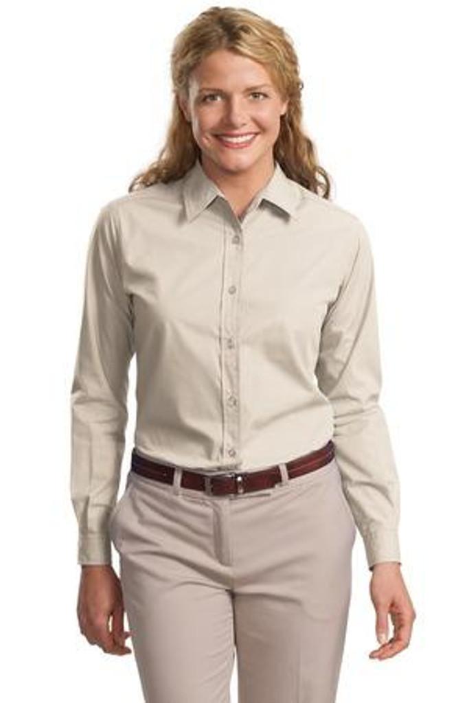 Ladies Long Sleeve Easy Care  Soil Resistant Shirt