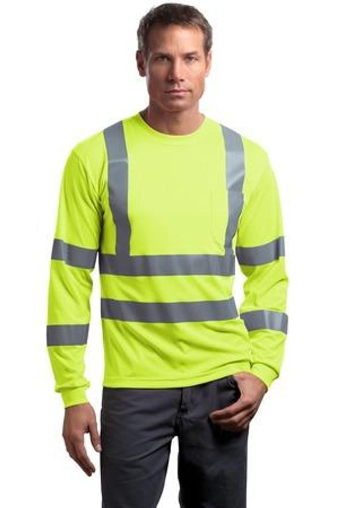 ANSI 107 Class 3 Long Sleeve Snag-Resistant Reflective T-Shirt
