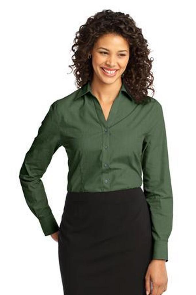 Ladies Crosshatch Easy Care Shirt