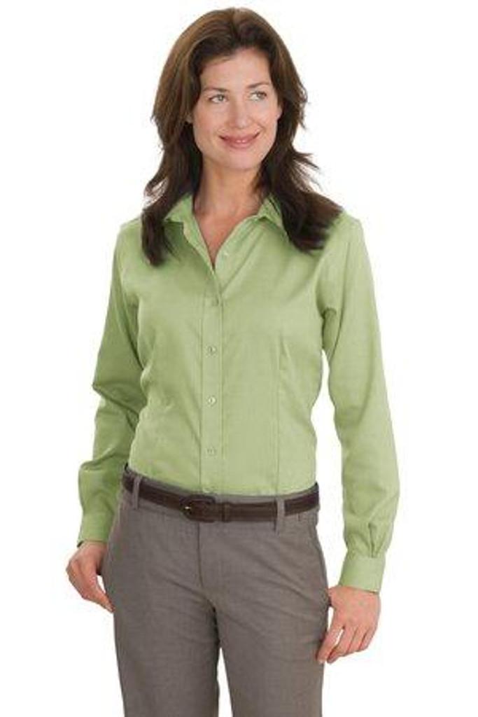 Ladies Nailhead Non-Iron Shirt