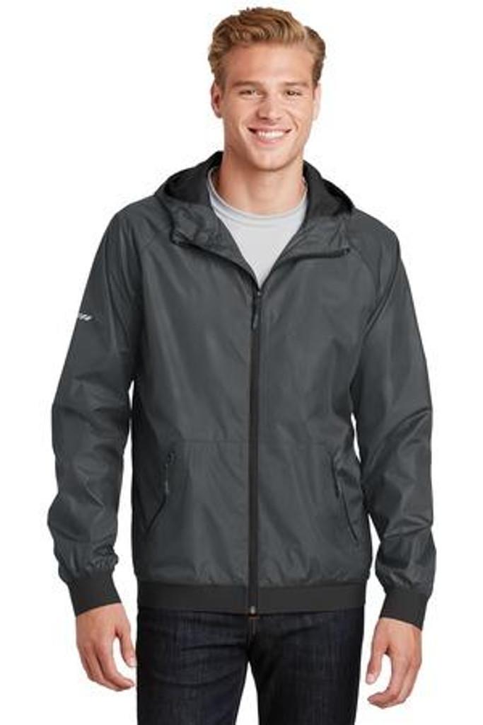 Embossed Hooded Wind Jacket