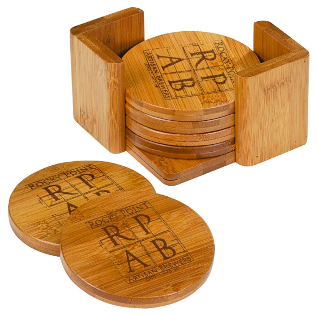 Bamboo Round 6-Coaster Set