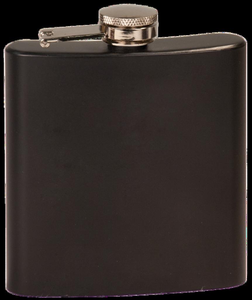 Matte Black Stainless Steel Flask