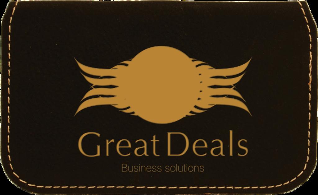 Black Leatherette Flexible Business Card Holder