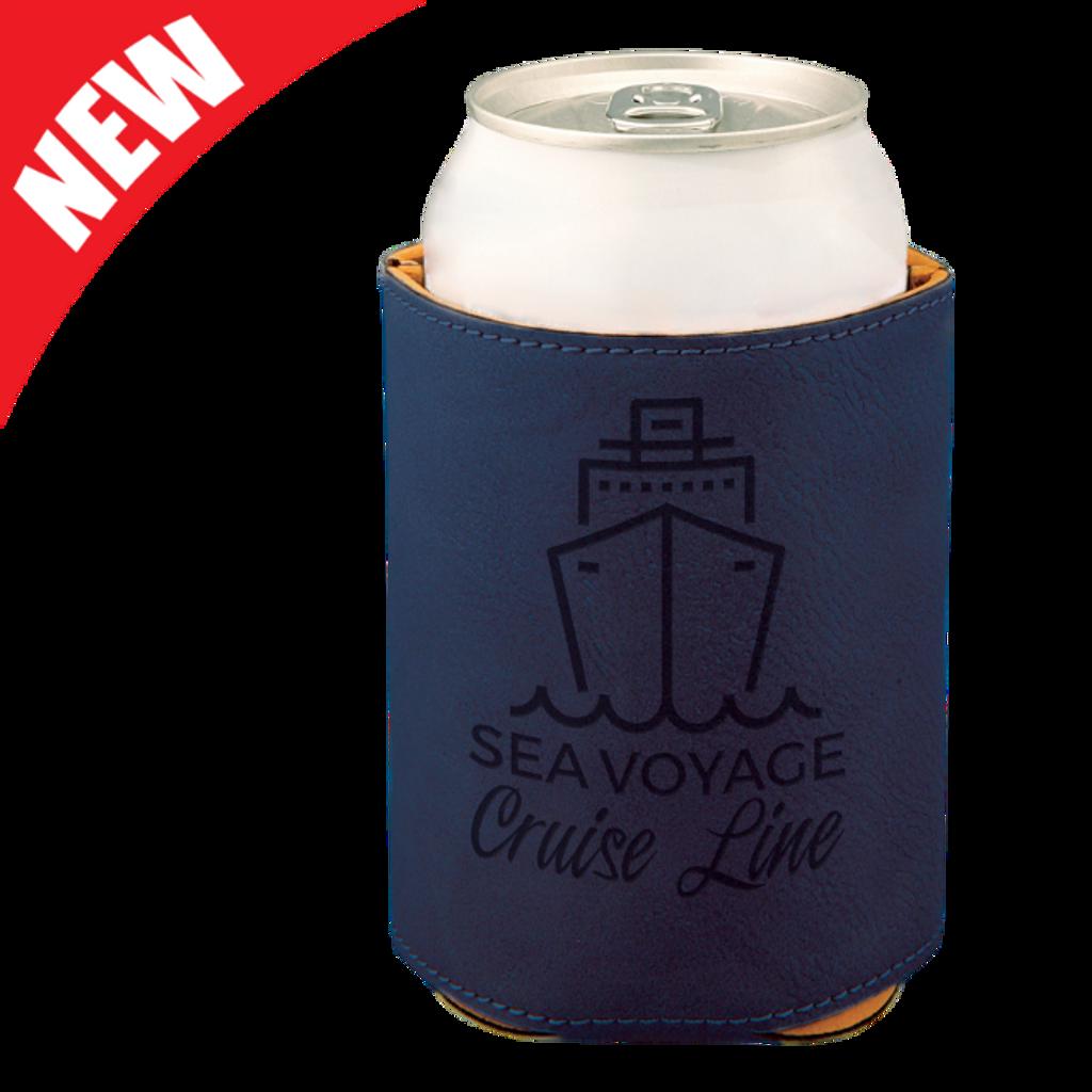Blue Leatherette Beverage Holder