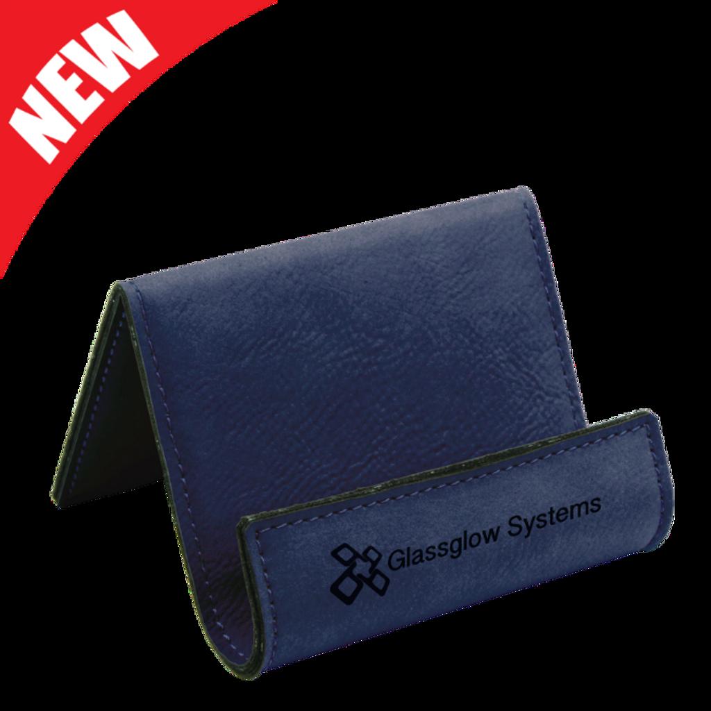 Blue Leatherette Holder/Easel