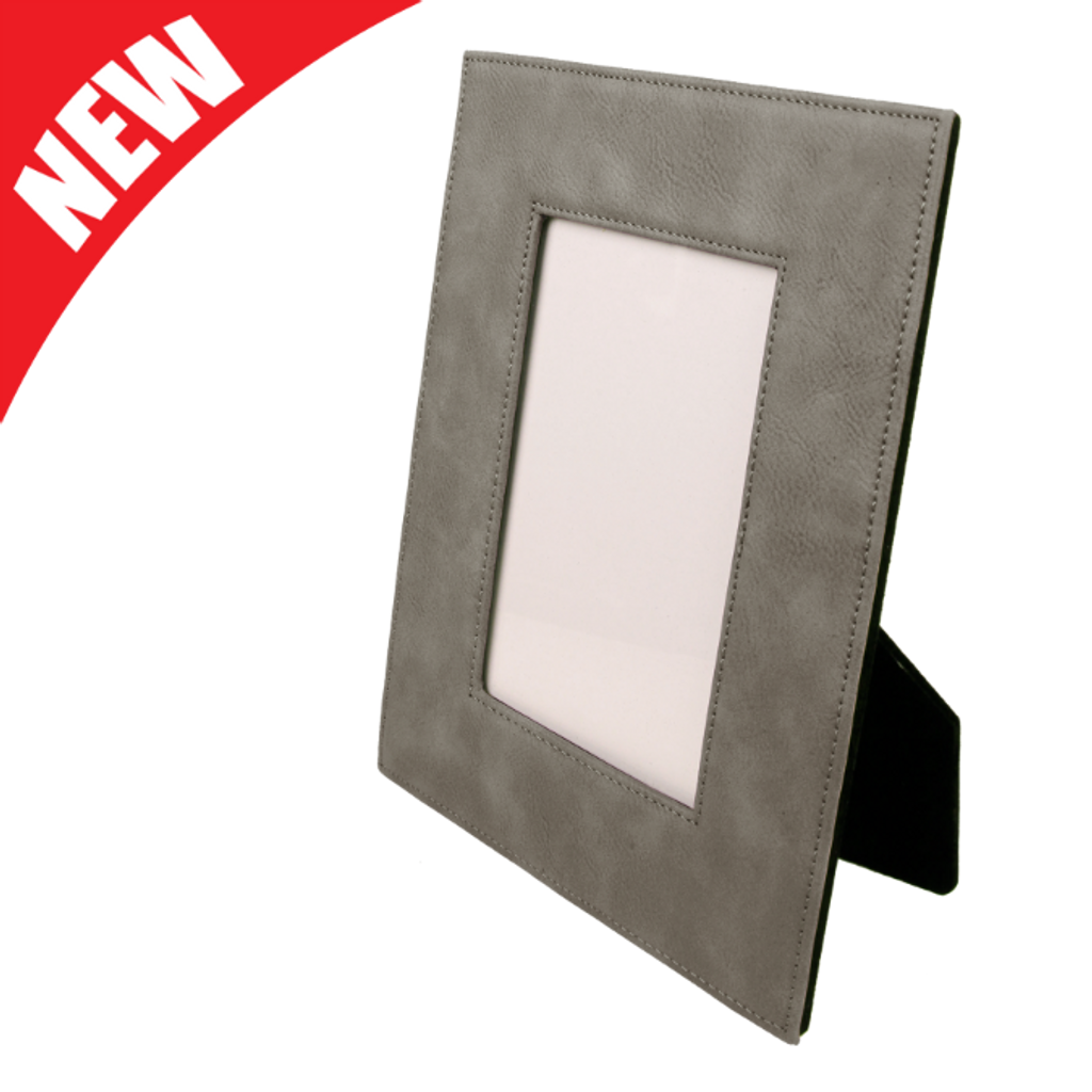 Gray Leatherette Frame