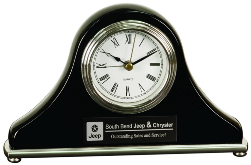 Black Piano Finish Mantel Clock
