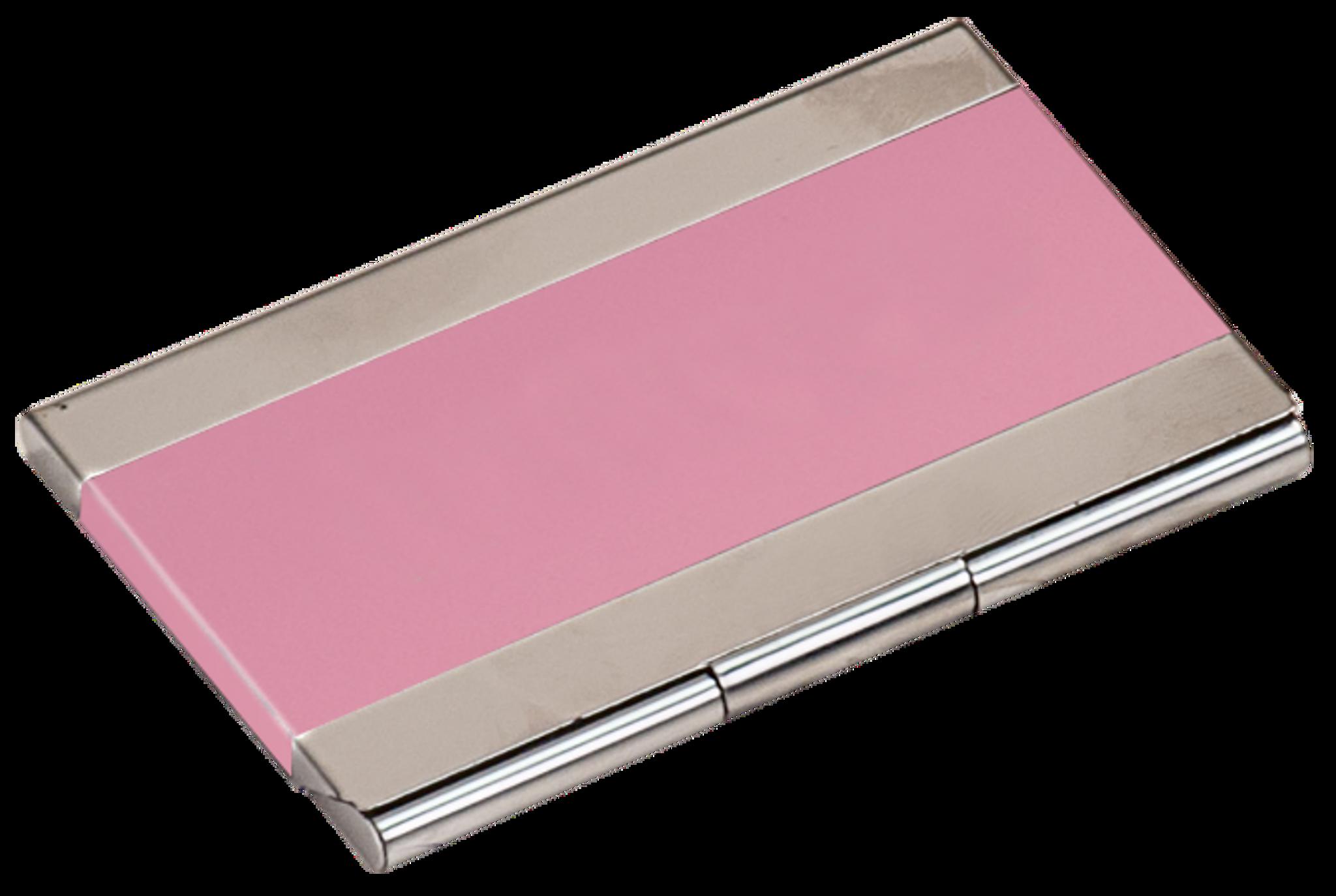 Pink metal business card holder jbs awards custom apparel pink metal business card holder colourmoves