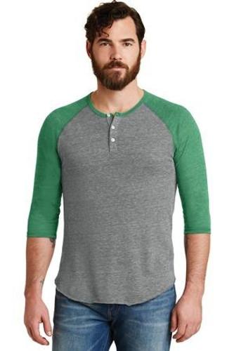 Eco-Jersey 3/4-Sleeve Raglan Henley