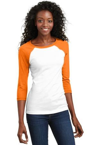 Juniors 50/50 3/4-Sleeve Raglan Tee
