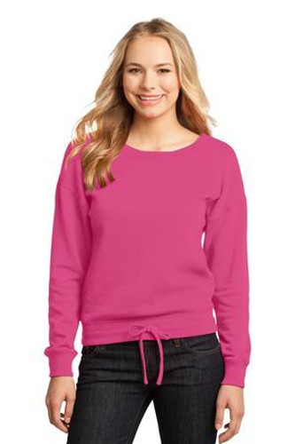 Juniors Core Fleece Wide Neck Pullover