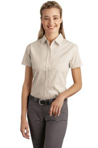 Ladies Short Sleeve Easy Care  Soil Resistant Shirt