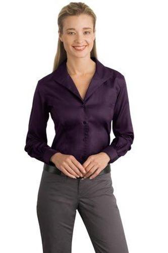 Ladies Herringbone Non-Iron Button-Down Shirt