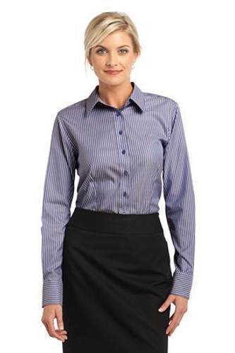 Ladies Stripe Non-Iron Pinpoint Oxford