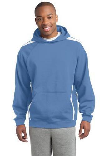 Tall Sleeve Stripe Pullover Hooded Sweatshirt