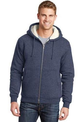 Heavyweight Sherpa-Lined Hooded Fleece Jacket