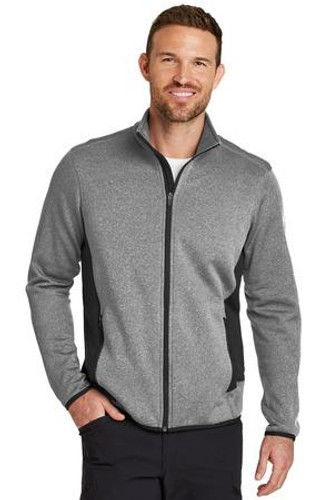 Full-Zip Heather Stretch Fleece Jacket
