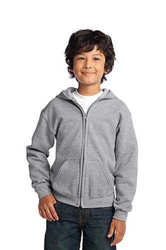 Youth Heavy Blend Full-Zip Hooded Sweatshirt
