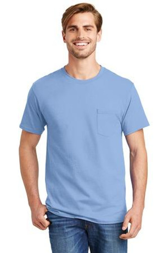 Tagless 100%  Cotton T-Shirt with Pocket