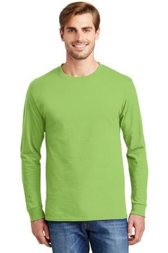 Tagless 100% Cotton Long Sleeve T-Shirt