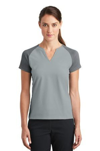 Ladies Dri-FIT Stretch Woven V-Neck Top