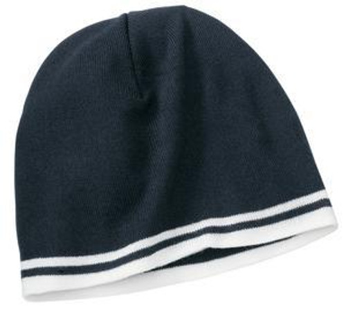 Fine Knit Skull Cap with Stripes   CP93