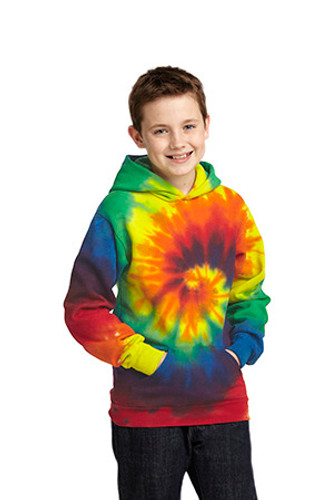Youth Tie-Dye Pullover Hooded Sweatshirt