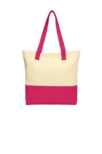 Colorblock Cotton Tote
