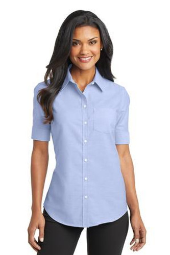 Ladies Short Sleeve SuperPro Oxford Shirt