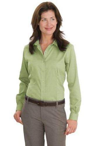 Ladies Nailhead Non-Iron Shirt